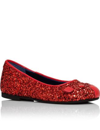 Mouse Coarse Glitter Ballet Flat