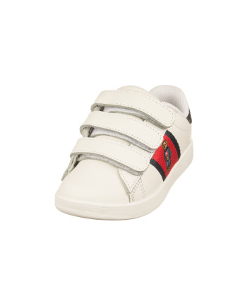 Quilton Bear Ez White Leather w/Red