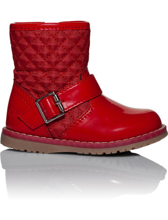 Dixie Knee High Quilted Patent Boot
