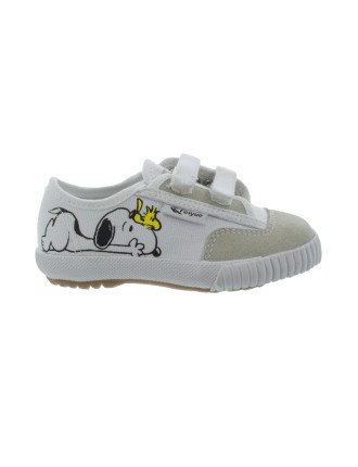 Snoopy Sneaker With Plain Toe