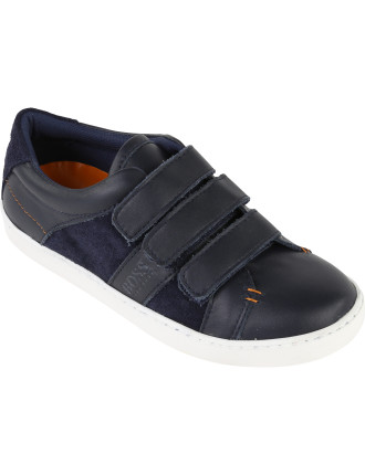 Double Velcro Leather Sneaker