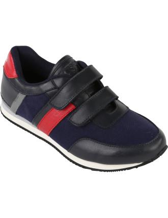 Double Velcro Contrast Sneaker
