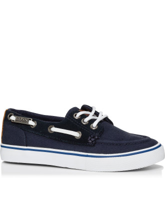 Canvas Boat Shoe Trainer Rubber Sole