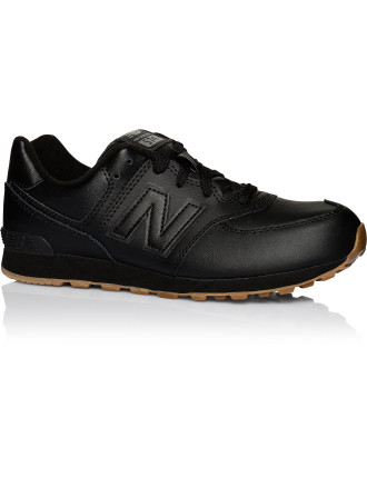Kl574g9p/G Athletic Laceup Leather Trainer