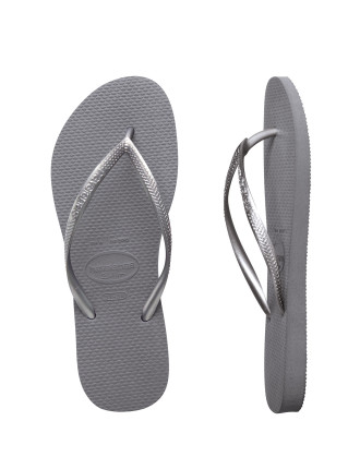 Kids Slim Metallic Steel Grey