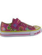 Twinkle Toes Shuffles Glow Girl Light Up Velcro Tab Shoe $69.95