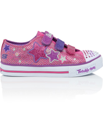 Shuffles S Lights Triple Up Velcro Tab Shoe