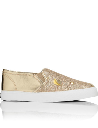 Sneakers Slip On Mouse Metallic Glitter