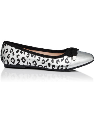 Anna Leopard Toe Cap Ballet
