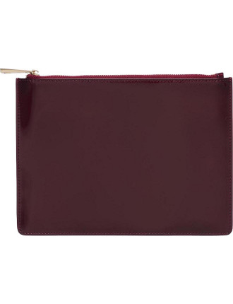 Burgundy Patent Pouch