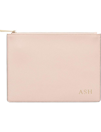 Pale Pink Pouch With Black Edge