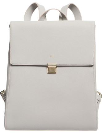 Mist Grey Large Structured Backpack