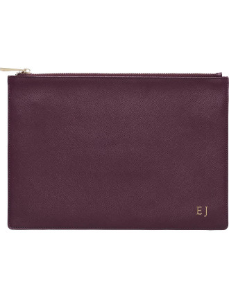 Burgundy Large Pouch