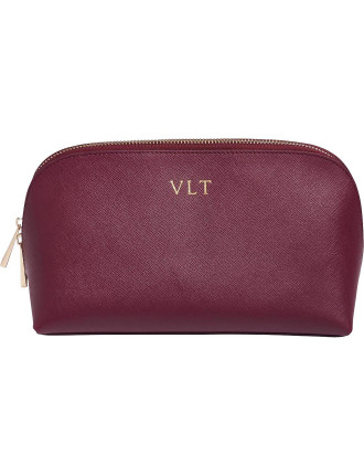 Burgundy Large Cosmetic Case