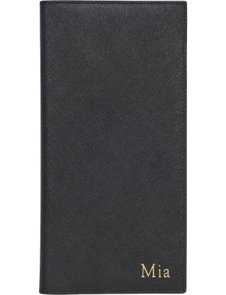 Black Flat Travel Wallet