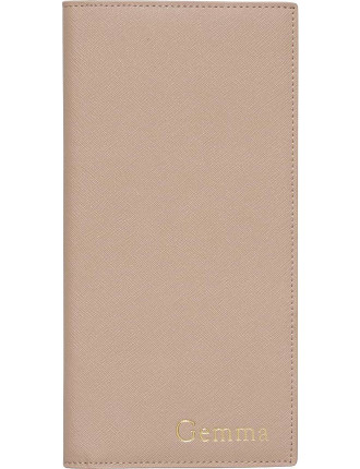 Taupe Flat Travel Wallet