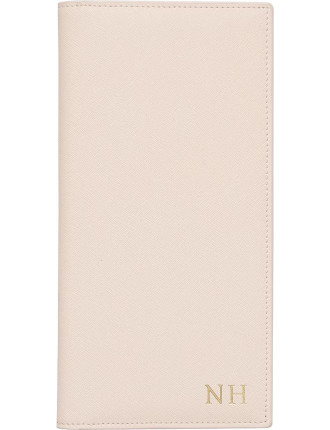 Pale Pink Flat Travel Wallet