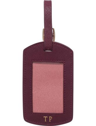 Burgundy Window Luggage Tag
