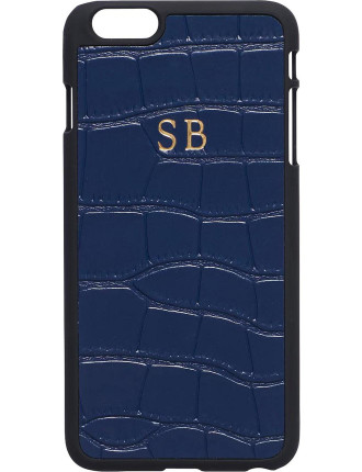 Midnight Navy Mock Croc Iphone 6 Plus / Iphone 6s Plus Case
