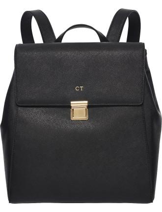 Black Structured Backpack