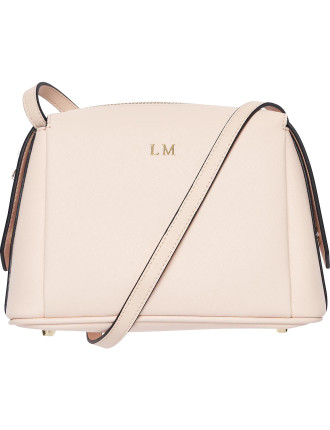 Pale Pink Structured Cross Body Bag