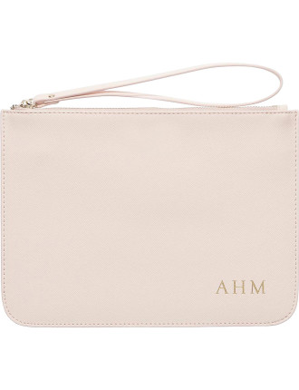 Pale Pink Pouch With Wrist Strap