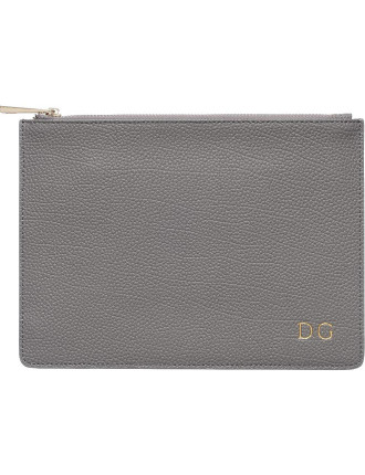 Storm Grey Pebbled Pouch