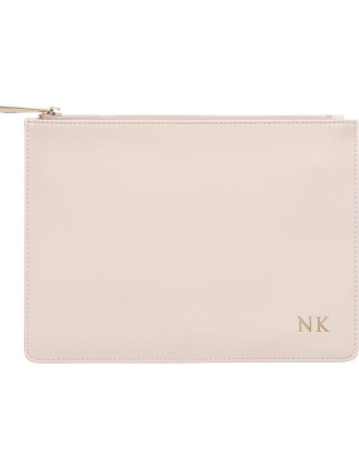 Pale Pink Smooth Pouch