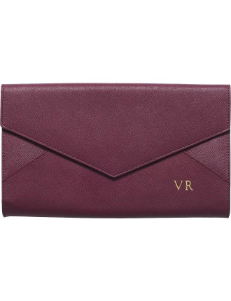 Burgundy Envelope Clutch