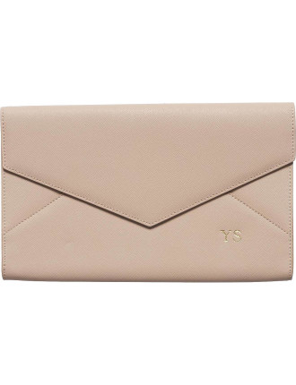 Taupe Envelope Clutch