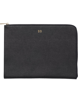Black Structured Pouch