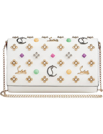 PALOMA CLUTCH CALF EMP/SP LOUBINTHESKY GRANITE