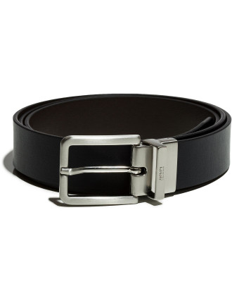 Blue Brown Leather Belt