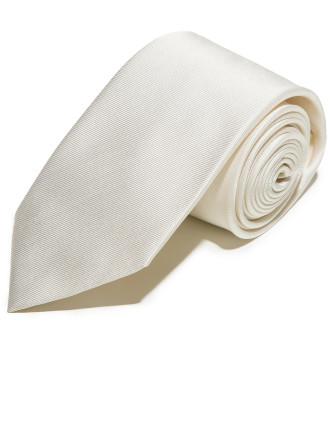 White Silk Jacquard Tie