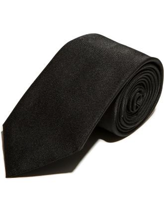 Black Silk Jacquard Tie