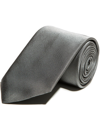 Grey Silk Jacquard Tie
