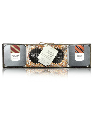 Savoury Flavoured Popcorn Salts Gift Set 570g