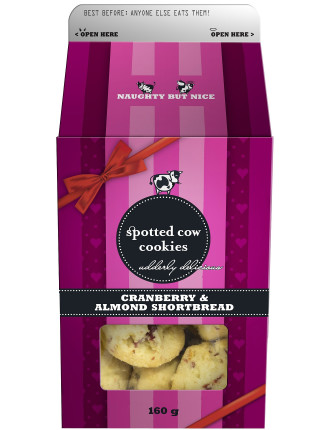 Cranberry & Almond Shortbread Box 160g