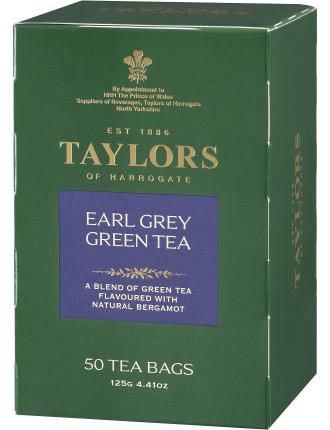 Tofh Earl Grey Green Tea Pot Bags 50'S