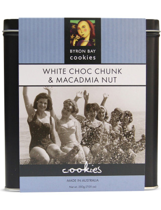White Choc Chunk and Macadamia Cookie Tin