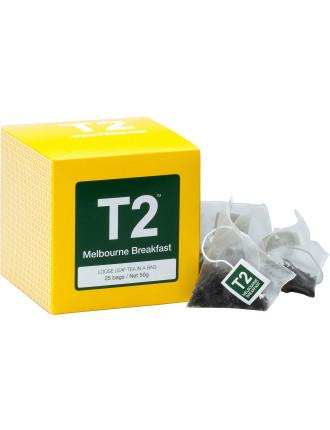 T2 Melbourne Breakfast Tbag 25pk Yb 50g