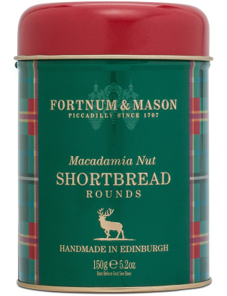 Macadamia Nut Shortbread Tin 150g