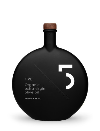 5 UNIQUE BLACK EXTRA EVOO BOTTLE CARD BOX 500ML