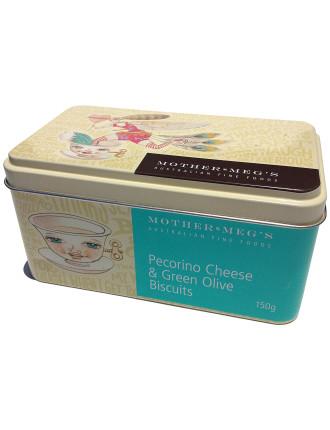 Pecorinocheese & Green Olive Gift Tin 150g