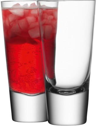 Bar Long Mixer Glass Set 4 Clear