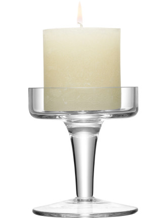 Light Candlestand With Candle Clear 11cm