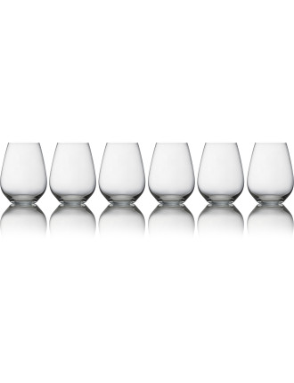 Vinoteca Stemless White Wine Glass Set of 6