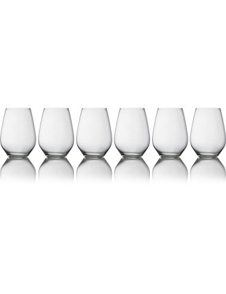 Vinoteca Stemless Red Wine Glass Set of 6