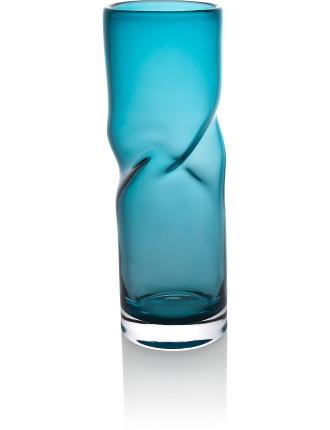 Helix Vase 35cm Blue Teal