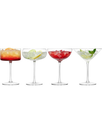 Lulu Champagne/Cocktail Glass Clear Assorted